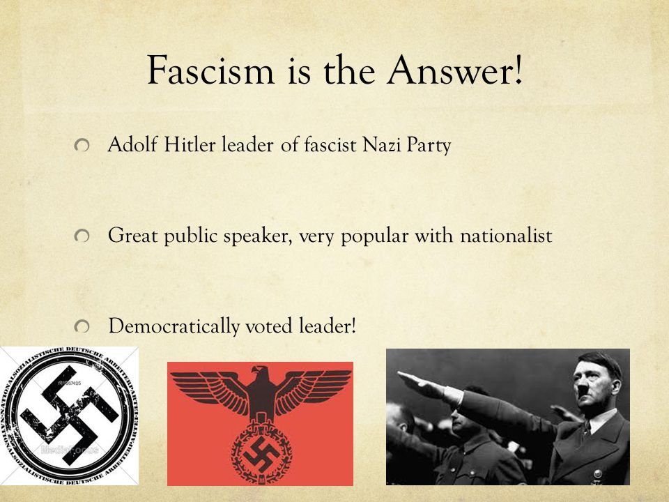 Fascism is the Answer.