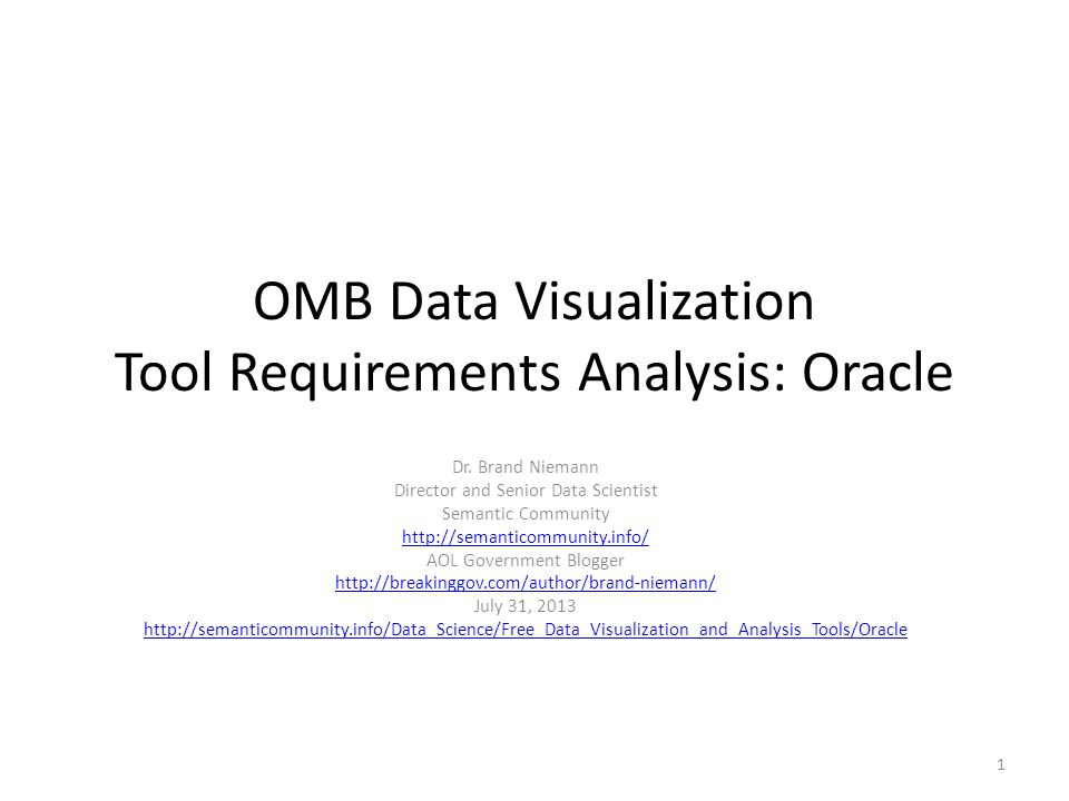 Background DRAFT White Paper for OMB Pittsburgh, July 11, 2013.