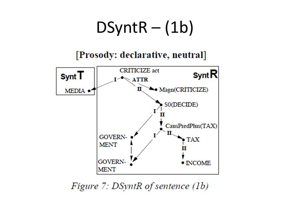 DSyntR – (1b)