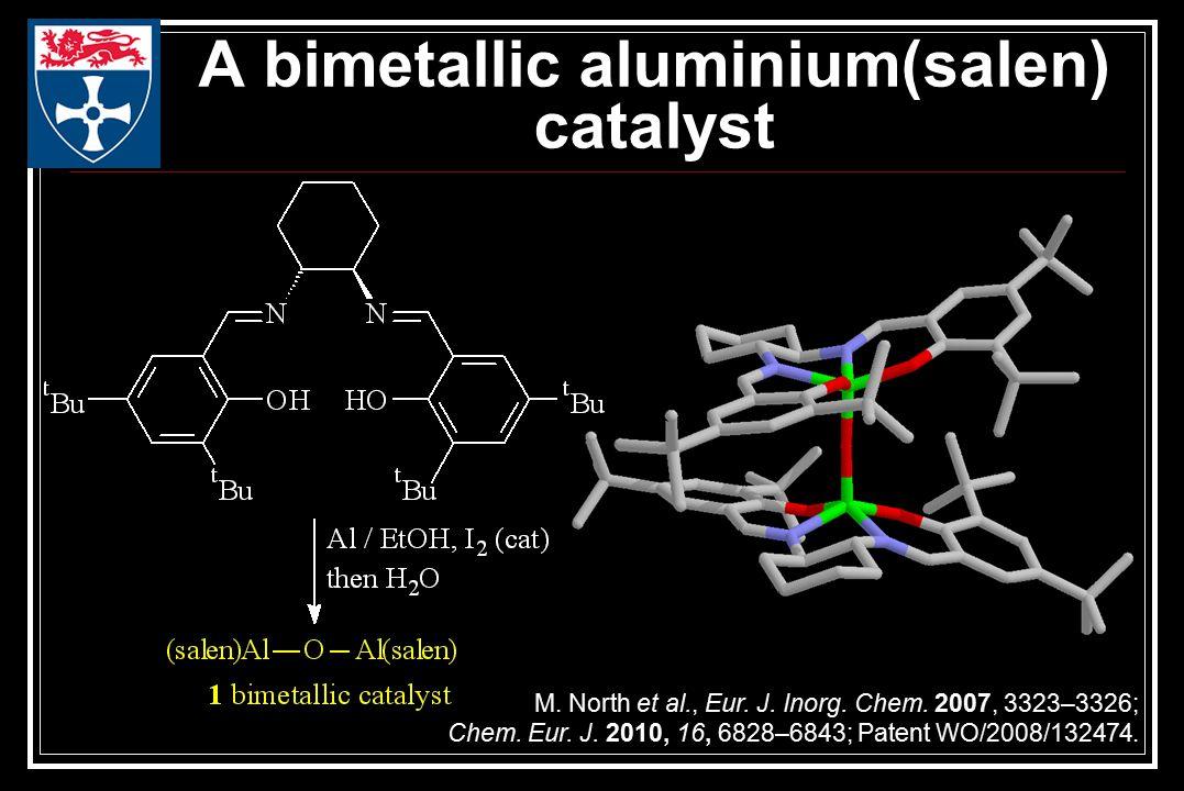 A bimetallic aluminium(salen) catalyst M. North et al., Eur.