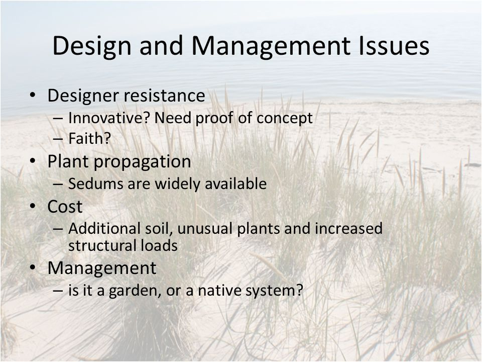 Design and Management Issues Designer resistance – Innovative.