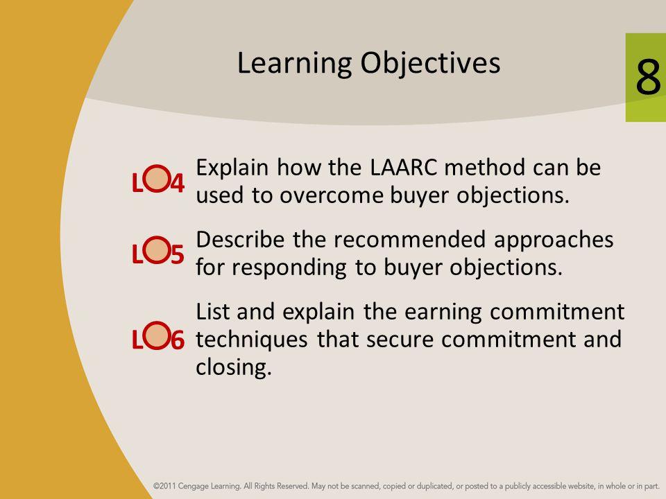 8 LAARC Method for Handling Buyer Resistance 1.___________ 2.___________ 3.___________ 4.___________ 5.___________