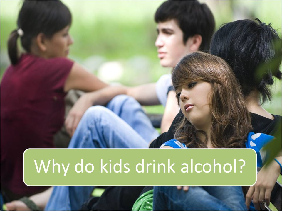 20 Why do kids drink alcohol?