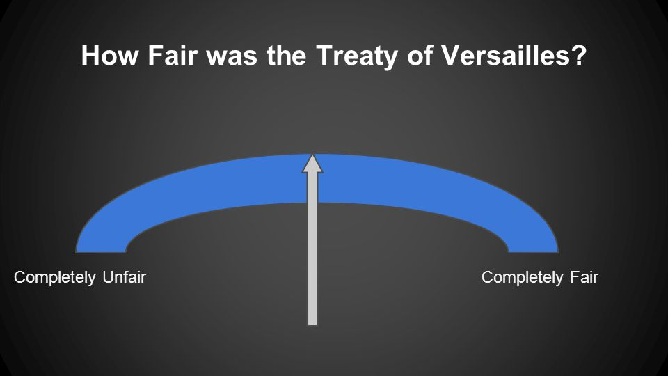 How Fair was the Treaty of Versailles Completely UnfairCompletely Fair