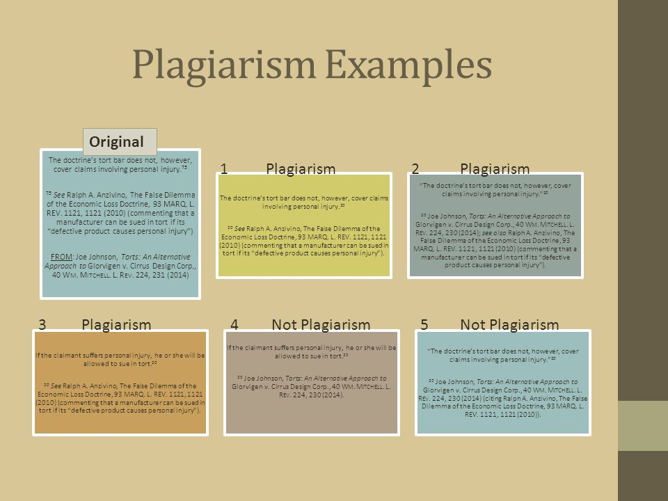 Plagiarism Examples By not reaching the issue of educational malpractice, the court missed an opportunity to definitively hold that there is no duty t