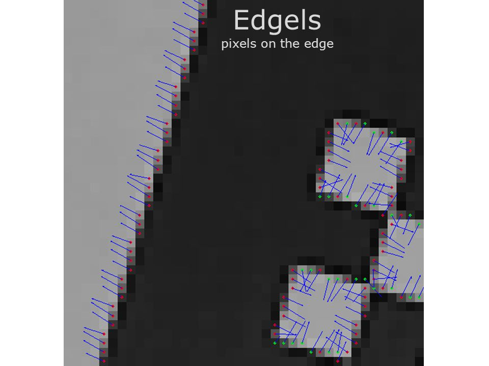 Edgels pixels on the edge