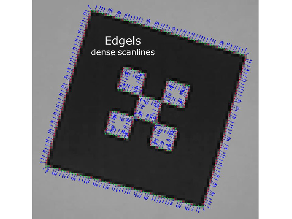 Edgels dense scanlines