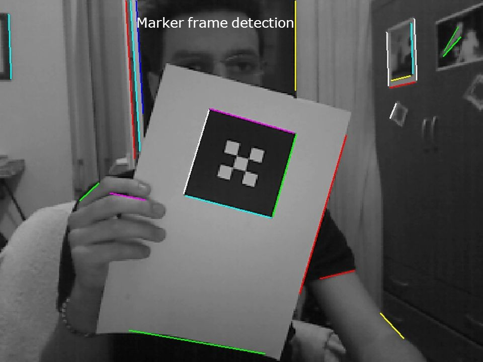 Marker frame detection