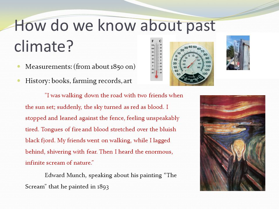 How do we know about past climate.