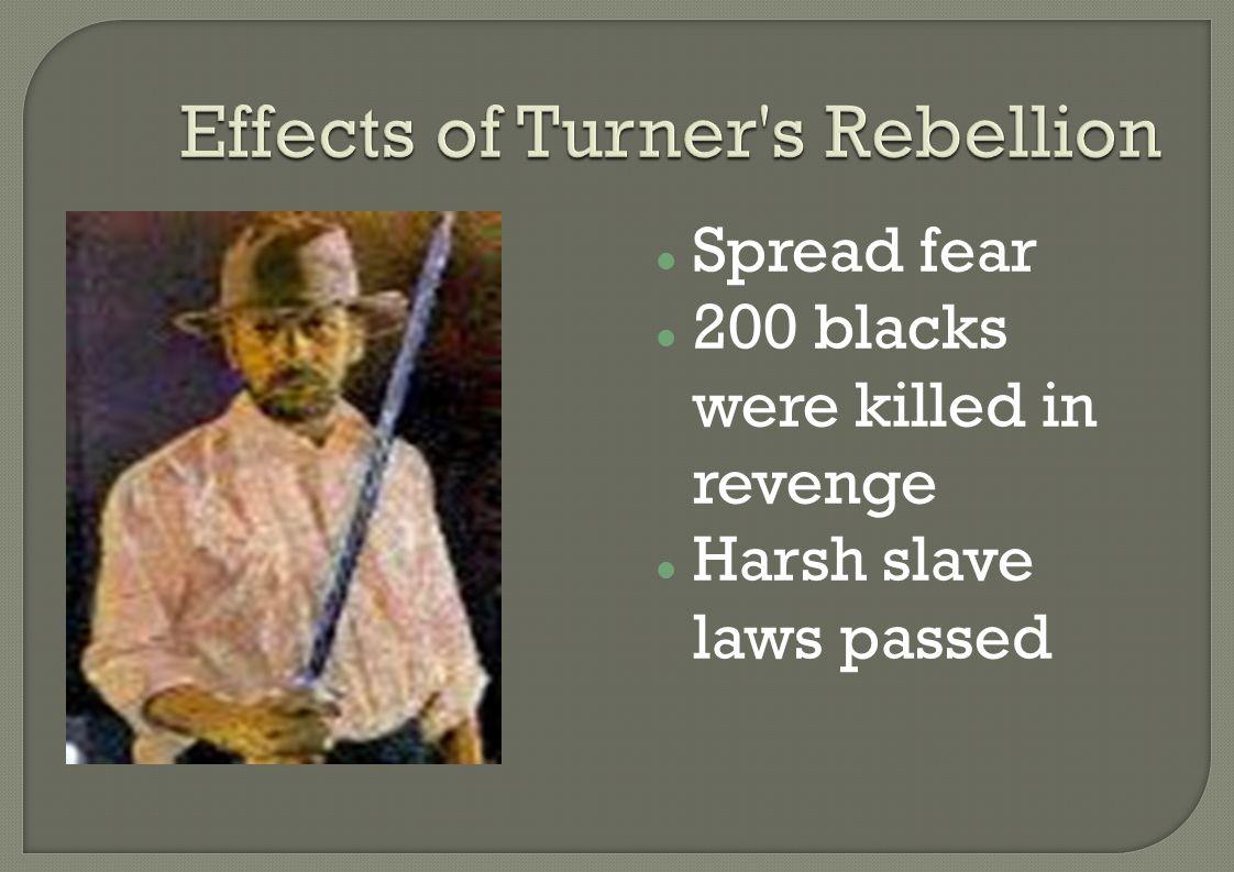 Spread fear 200 blacks were killed in revenge Harsh slave laws passed