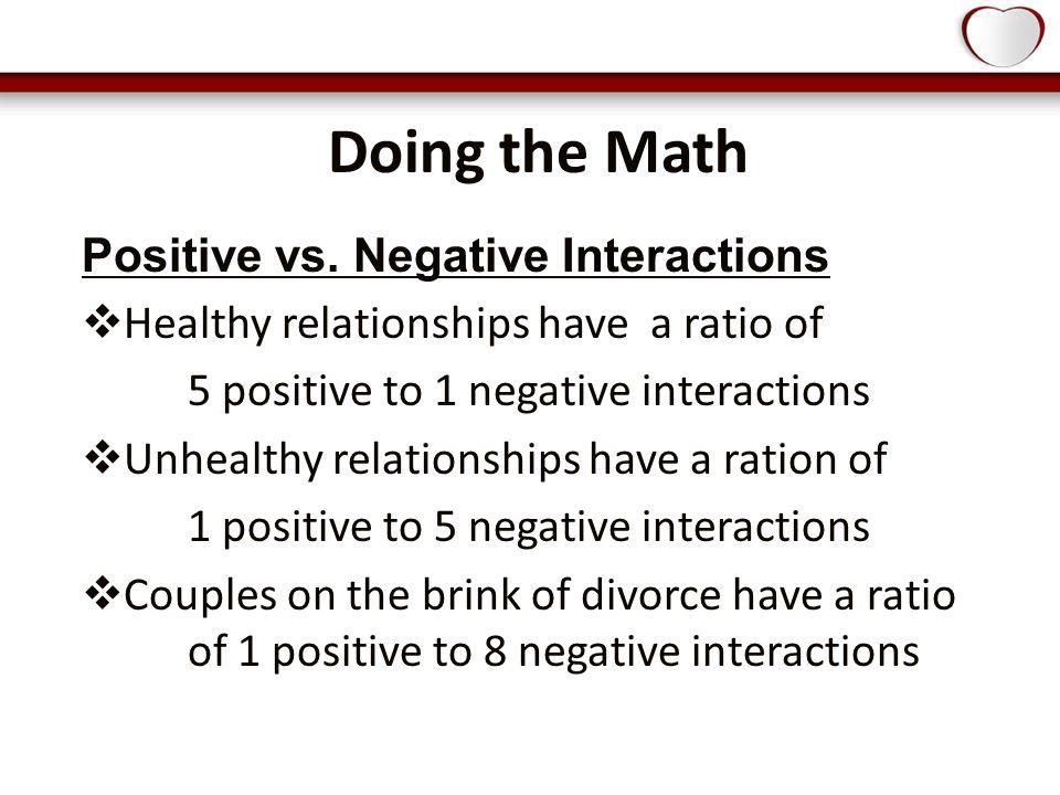 Doing the Math Positive vs.