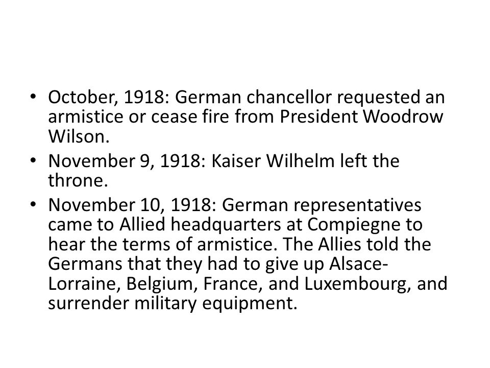 November 11, 1918 at 11:00 a.m., the conflicting nations signed the armistice.