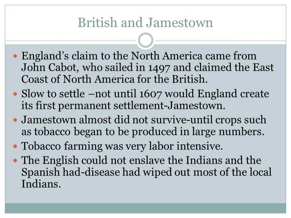 Mixed Race Families Up until about 1700, white labor produced most of the tobacco in the Chesapeake colonies.