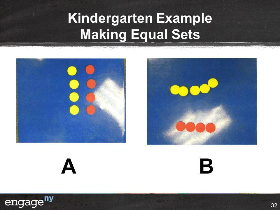 Kindergarten Example Making Equal Sets 32 AB