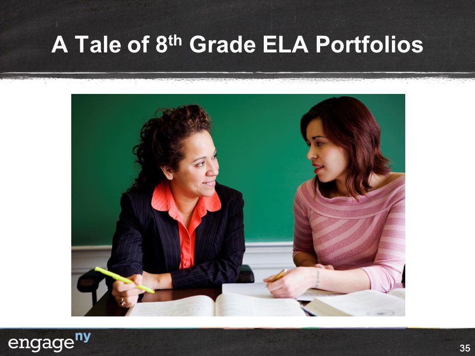 A Tale of 8 th Grade ELA Portfolios 35