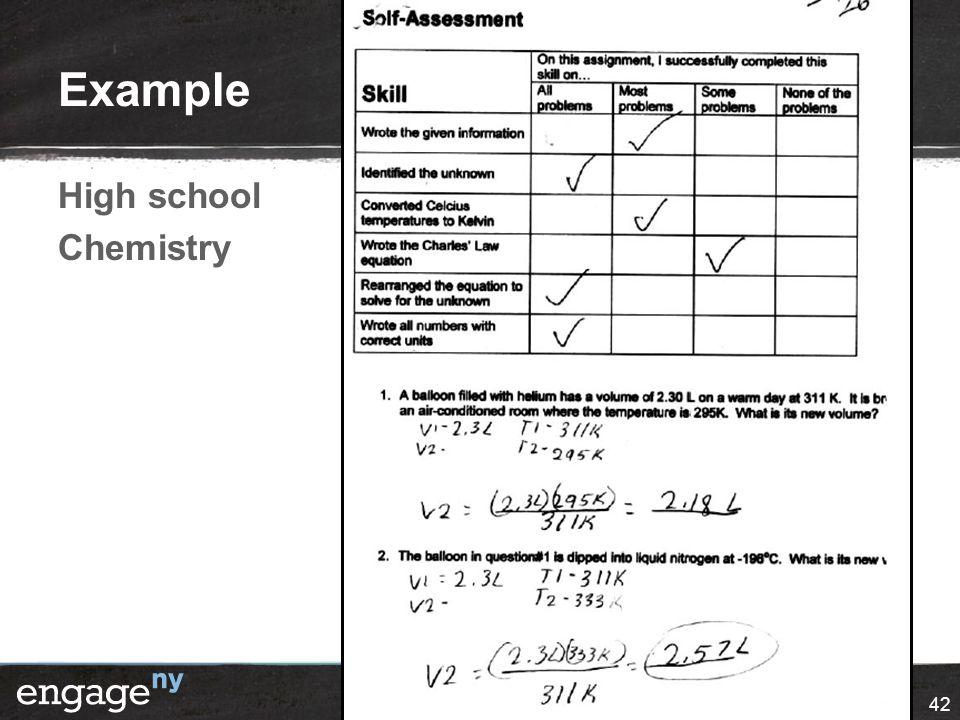 Example High school Chemistry 42