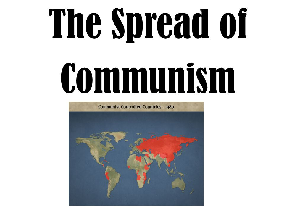 Communism Spreads to China China during WWII – Ruled by Nationalist Party (KMT) – Led by Chiang Kai-shek – Anti-communist ally of the United States Communist Revolution – Communist rebels fight Nationalists for power – Nationalists flee to Taiwan – Communists take control of China (1949) People's Republic of China is established Mao Zedong becomes dictator