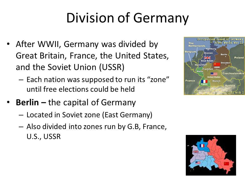 Conflict over Germany U.S.