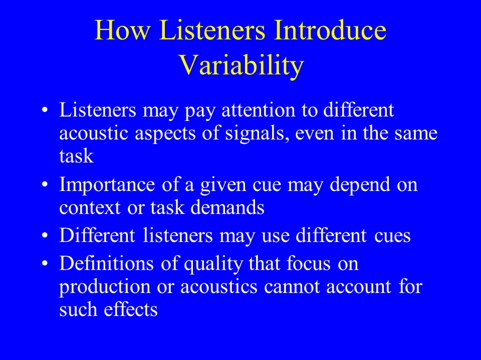 Why Include the Listener.