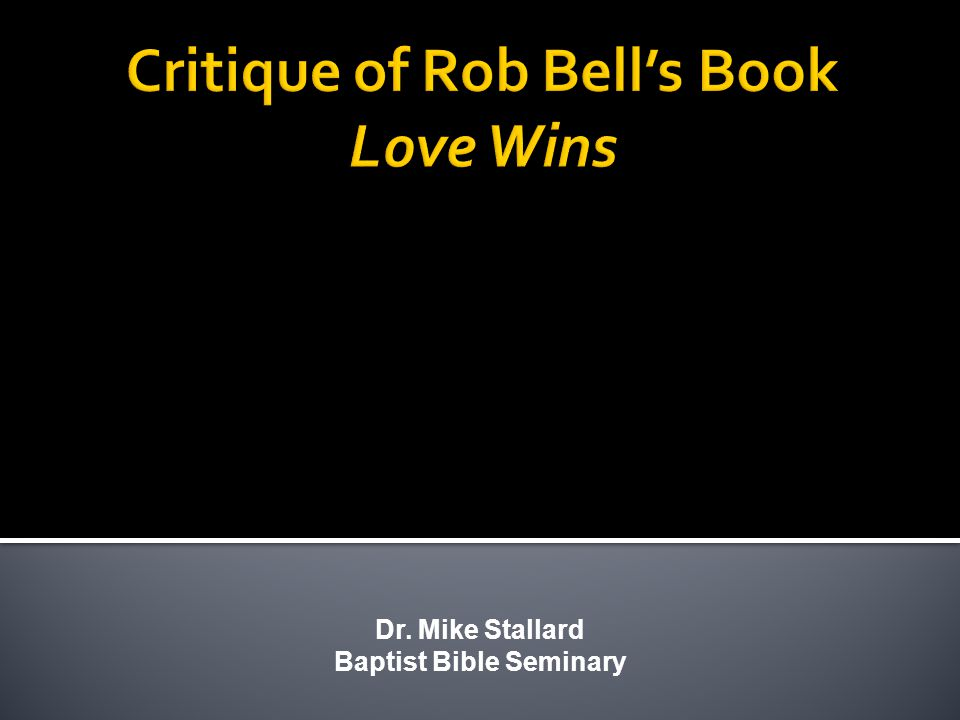 Dr. Mike Stallard Baptist Bible Seminary