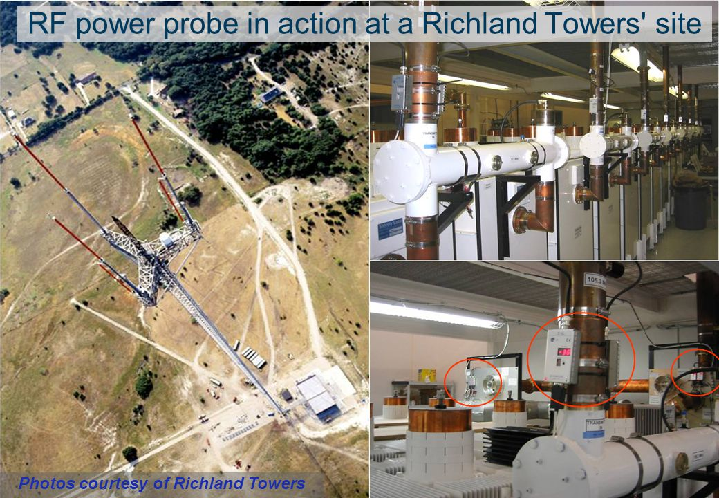 RF power probe in action at a Richland Towers site