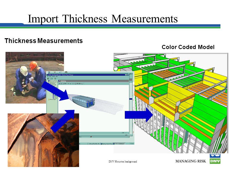 Korea Mar 03DNV Houston background Slide 9 Color Coded Model Thickness Measurements Import Thickness Measurements