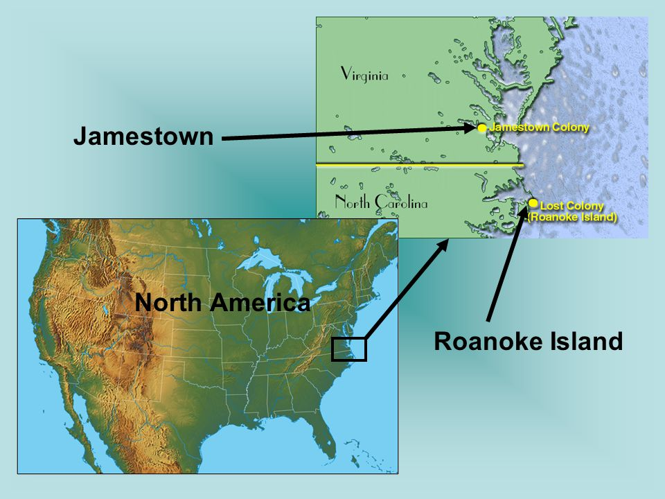 Jamestown Roanoke Island North America