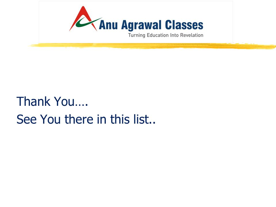 Thank You…. See You there in this list..