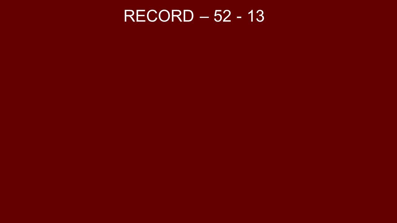 RECORD – 52 - 13