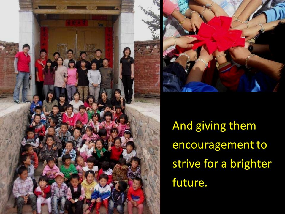 Bringing them hopes and dreams of a better life,