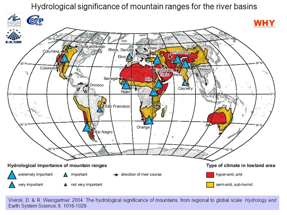 Hydrological significance of mountain ranges for the river basins Viviroli, D.