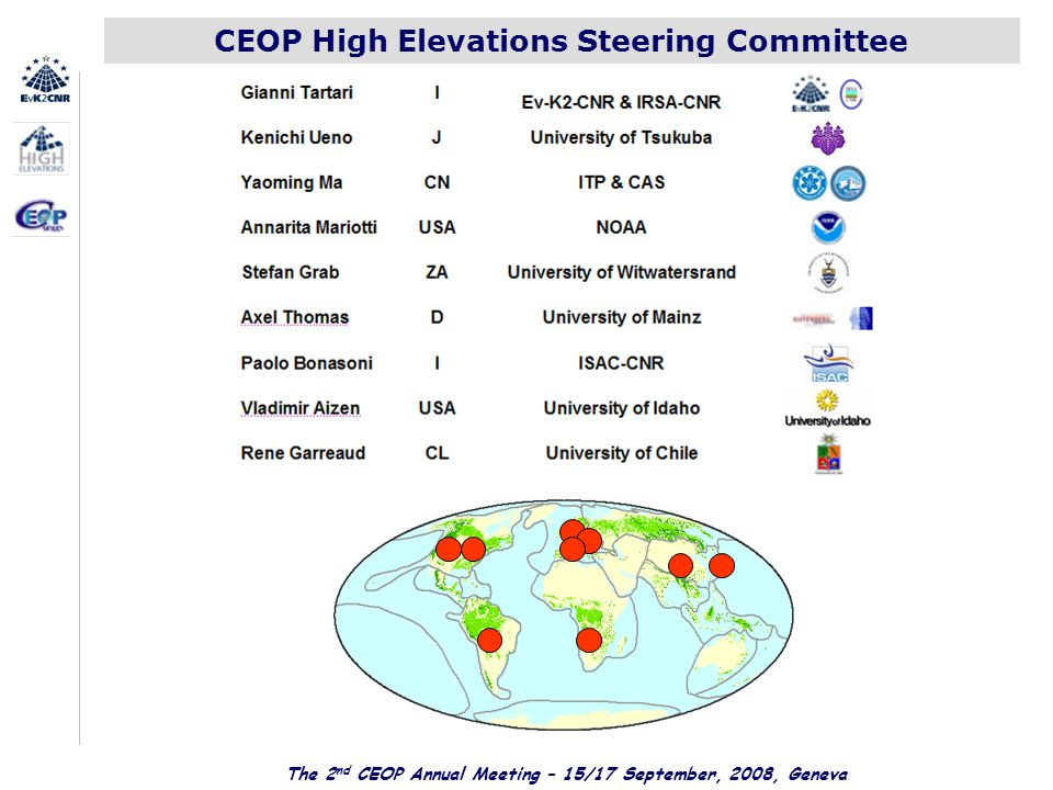 CEOP High Elevations Steering Committee