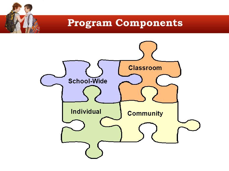 School-Wide Classroom Individual Community Program Components