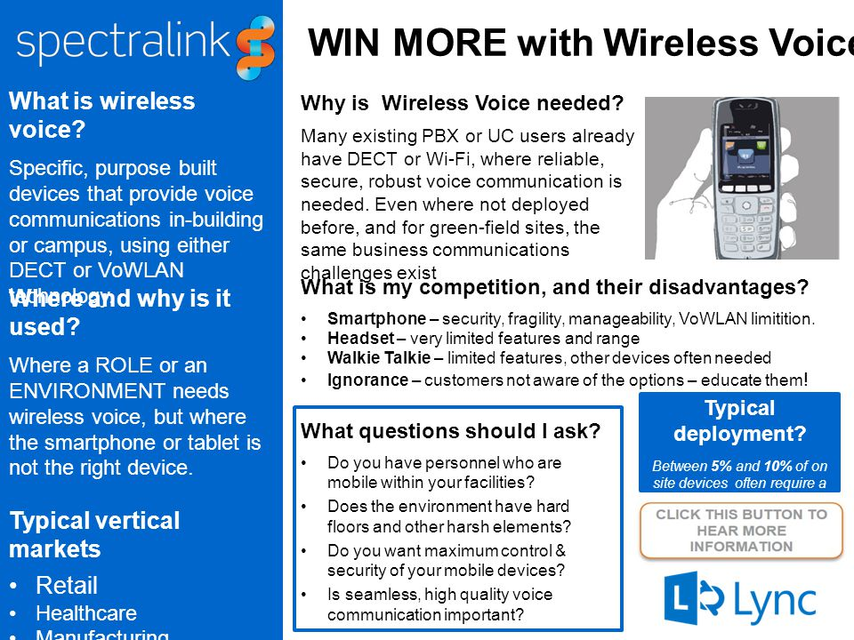WIN MORE with Wireless Voice What is wireless voice.