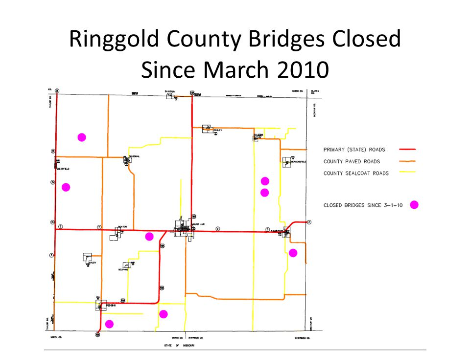 Ringgold County Bridges Closed Since March 2010