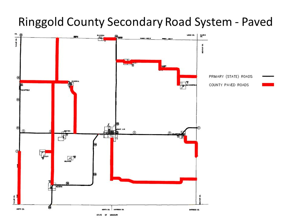 Ringgold County Secondary Road System - Paved
