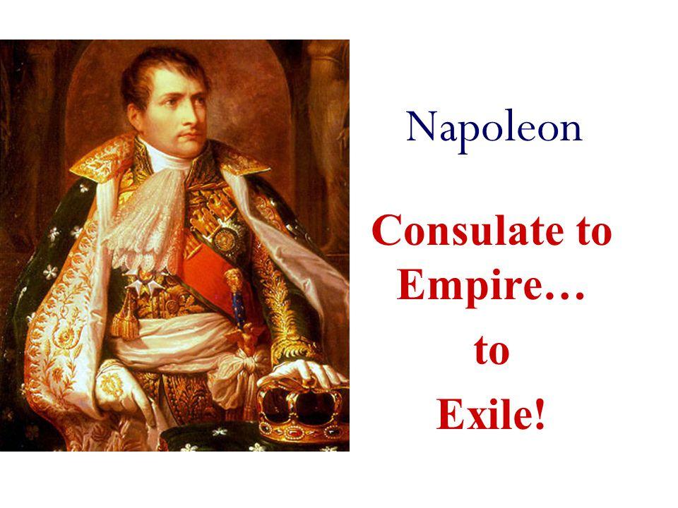 Napoleon Consulate to Empire… to Exile!