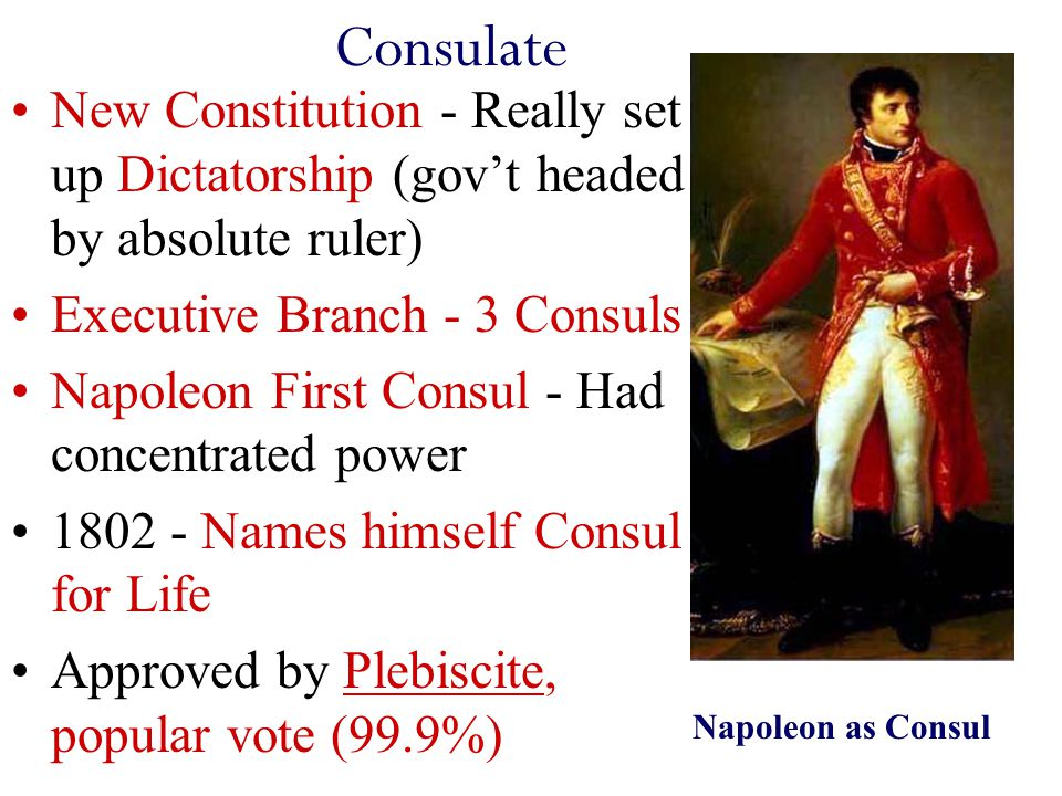 Napoleon Consulate to Empire… to Exile!