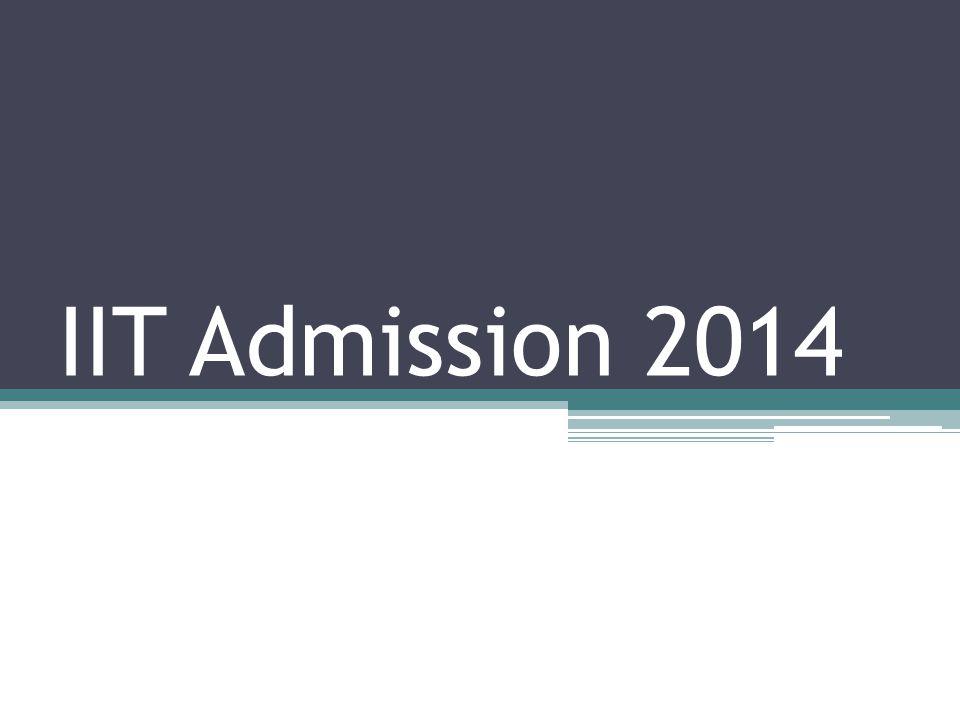 IIT Admission 2014