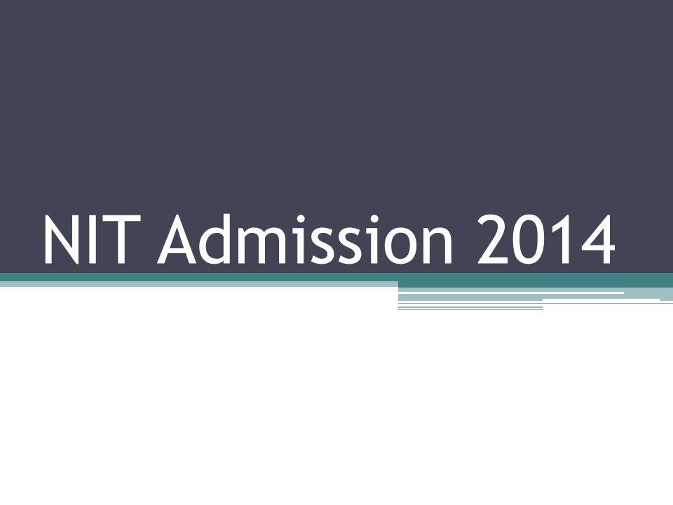 NIT Admission 2014