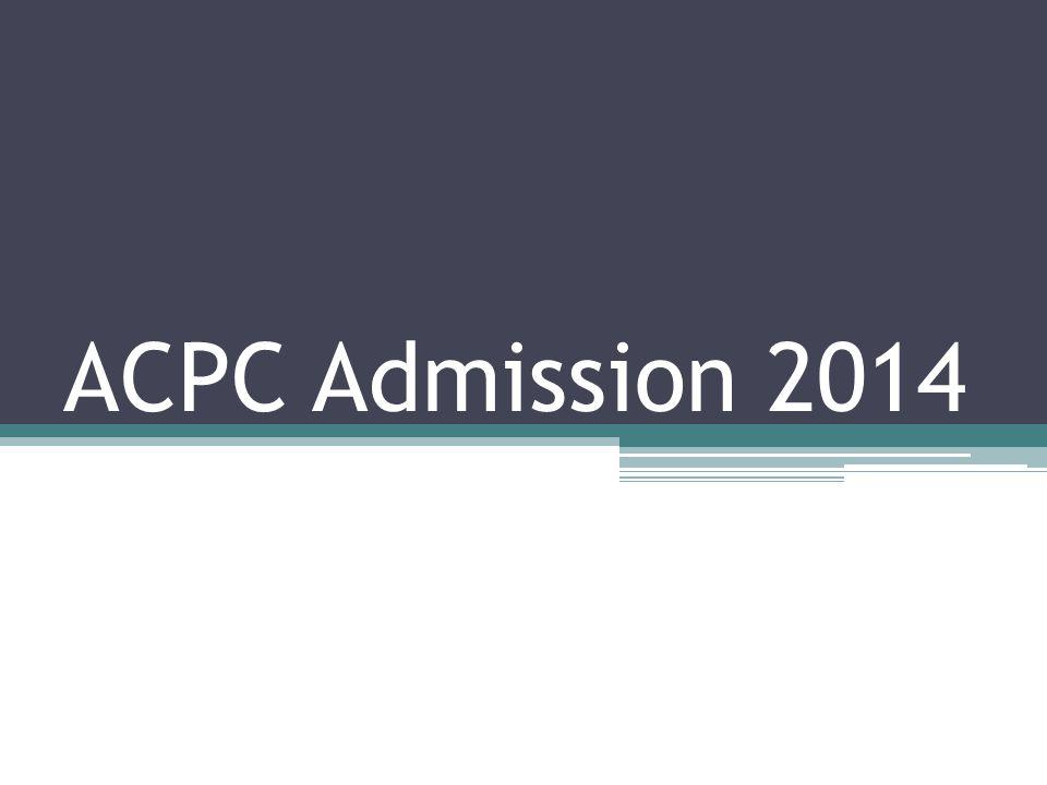 ACPC Admission 2014