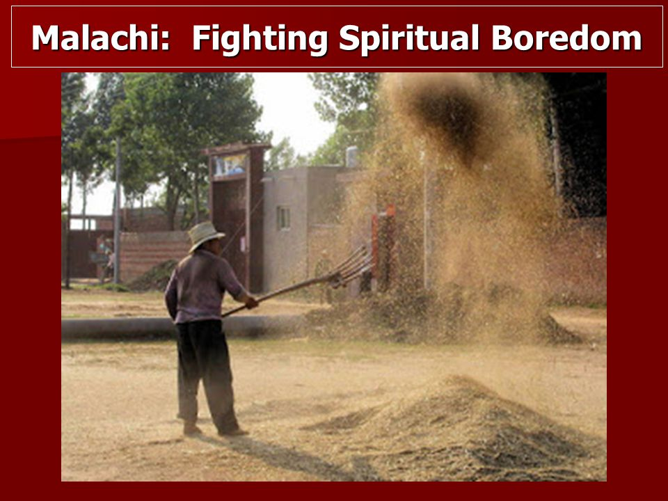 Malachi: Fighting Spiritual Boredom