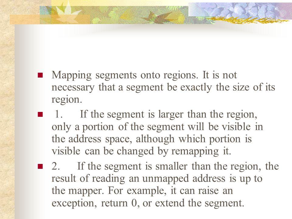 Mapping segments onto regions.
