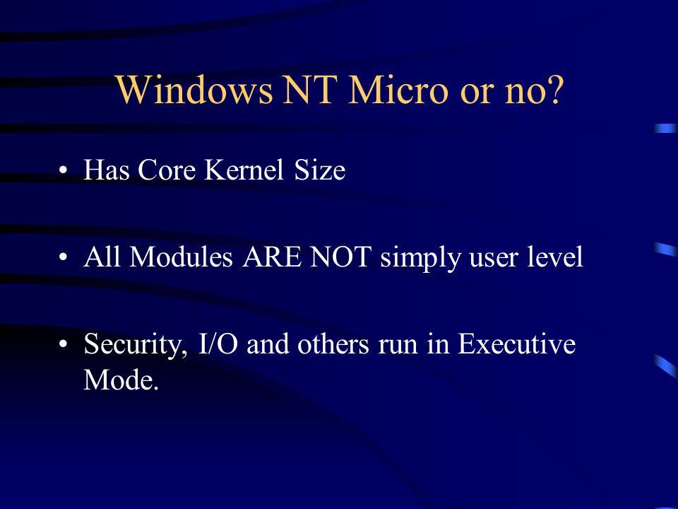 Windows NT Micro or no.