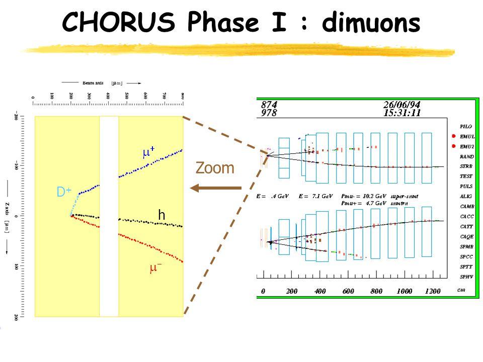 CHORUS Phase I : dimuons Zoom D+D+   h