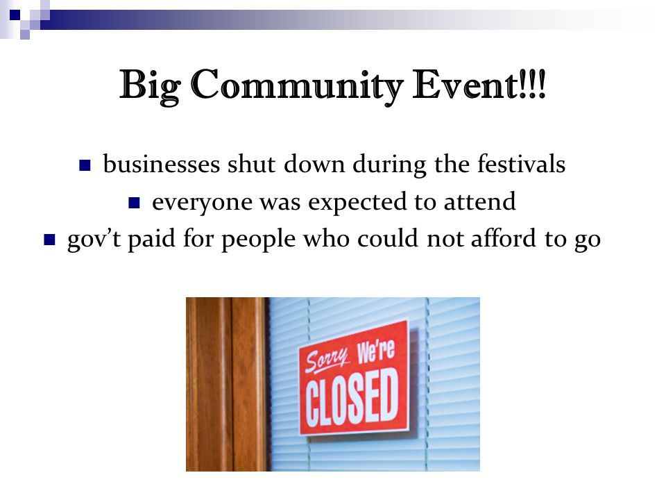 Big Community Event!!.
