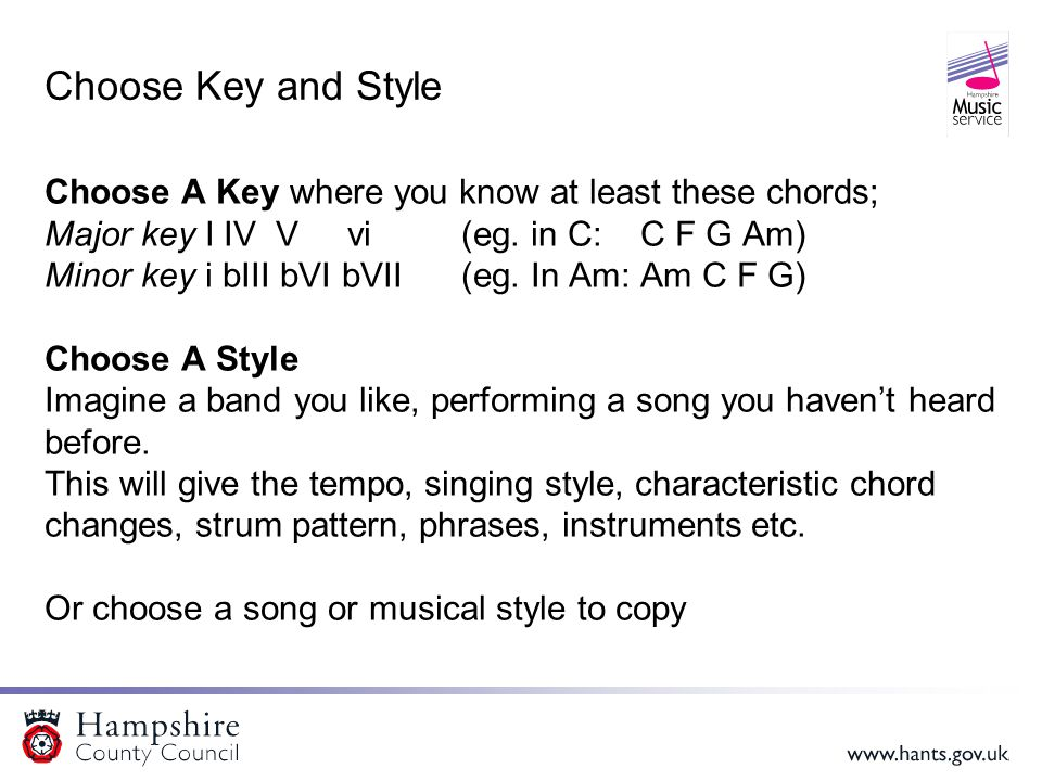 Where to start Most songs follow this structure Verse1  Chorus Verse2  Chorus Bridge Verse3  Chorus (with an optional Intro using Verse or Chorus material; Verse 3 is sometimes omitted) So we just need to write: Verse Chorus Bridge