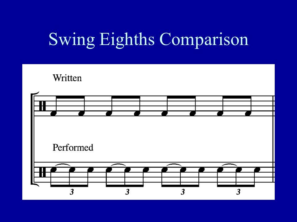 Swing Eighths Comparison