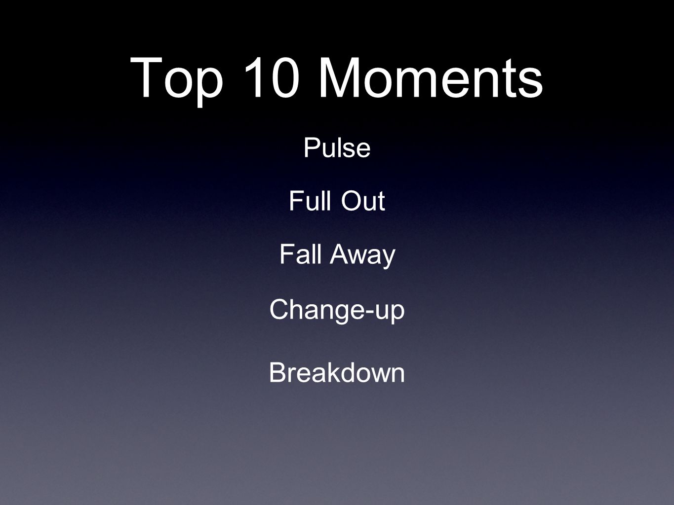 Top 10 Moments Pulse Full Out Fall Away Change-up Breakdown