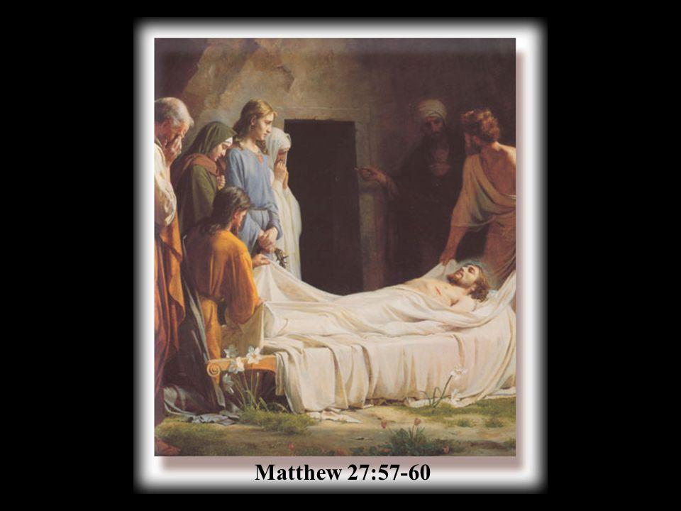 Matthew 27:57-60